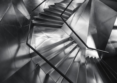 Spiral staircase Metal steel Modern Building Architecture detail 写真素材 - 122241835