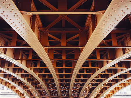 Bridge construction Metal sheet structure pattern Architecture details