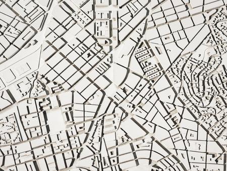 Modello di architettura Urban map layout city living property white plan Archivio Fotografico