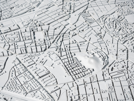 Architecture Model Urban map layout city living property white plan