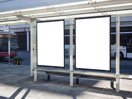 Mock up Posters Signboard Banners template Bus Shelter Media outdoor Advertiseing
