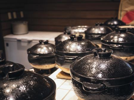 Bowls in Korean food restaurant Bibimbap Bowls Asian cooking Reklamní fotografie