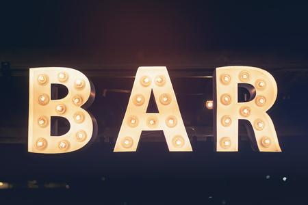 Bar signage Lights decoration Party Event Retro Type design