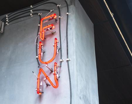 Fun neon sign Lights decoration Type signage emotion Reklamní fotografie