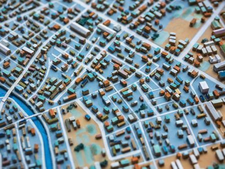 City Model town Urban plan layout Building city scape