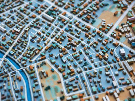 Modelo de ciudad Diseño de plan urbano de ciudad Edificio de paisaje de la ciudad