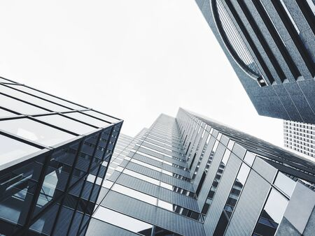 Architecture detail Modern Glass facade building Business office