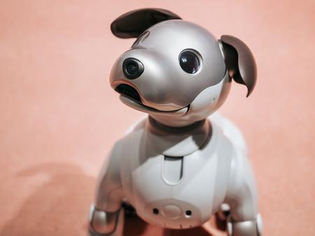 TOKYO, JAPAN - APR 14, 2019 : Aibo Robotic pets designed and manufactured by Sony Pet robot Redakční