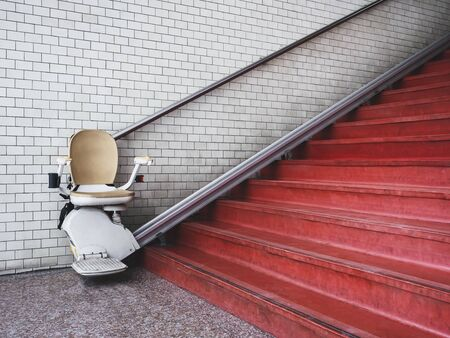 Disability stairs lift Healthcare facility Public building Transportation Archivio Fotografico