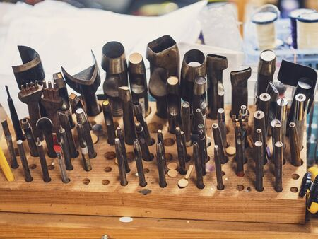 Leather cutting craft tools handmade workshop