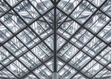 Steel structure Glass roof Modern Building  Architecture details