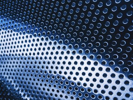 Steel Silver metallic texture dot grid pattern Industrial Technology Background 写真素材