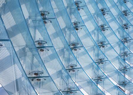 Dettagli di architettura Edificio moderno Modello di parete di facciata in vetro Esterno