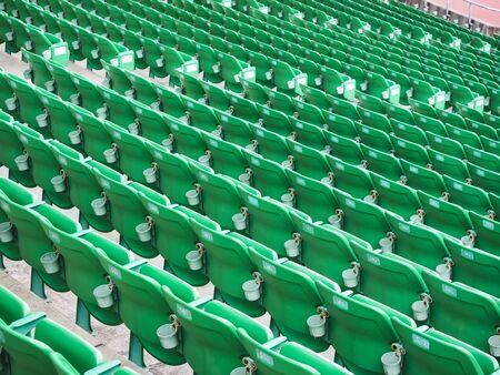Seat row in football stadium Arena Sport event Stok Fotoğraf