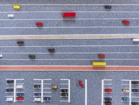 Architettura Modello Strada della città Parcheggio Urbano Paesaggio urbano della città
