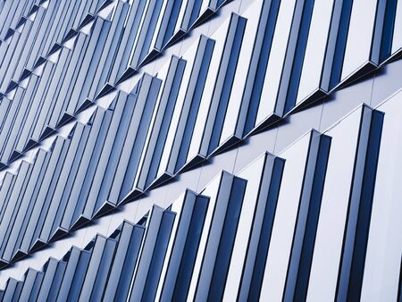Architecture details Glass facade pattern geometric gradation Modern building background 스톡 콘텐츠