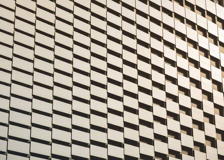 Architecture details glass facade  geometric pattern Modern building Abstract background Imagens