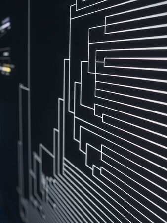Technology background Led light digital Line Pattern Banco de Imagens - 131186554