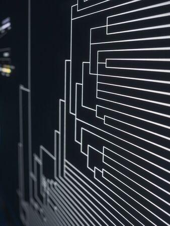 Technology background Led light digital Line Pattern