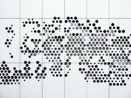 Metal wall Hexagon dot pattern Architecture details Modern building