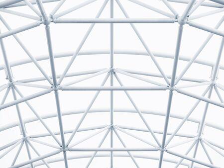 Detalle de la arquitectura moderna estructura metálica patrón construcción fondo blanco