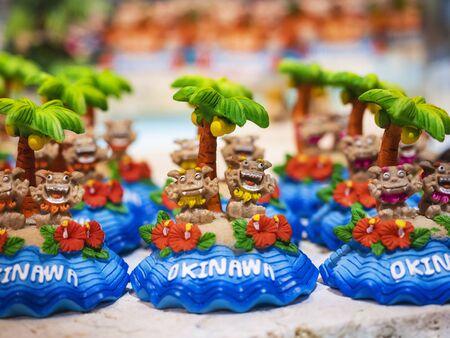 Okinawa Japan Souvenir Shisa Lion Craft product colourful Ceramic dolls