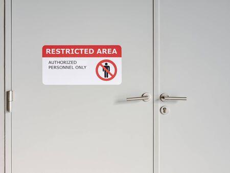 Restricted Area sign indoor Building Do not enter signage sticker