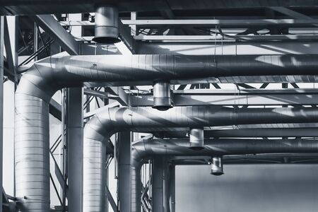Heating ventilation Air pipe tube conditioning system Building industry Standard-Bild
