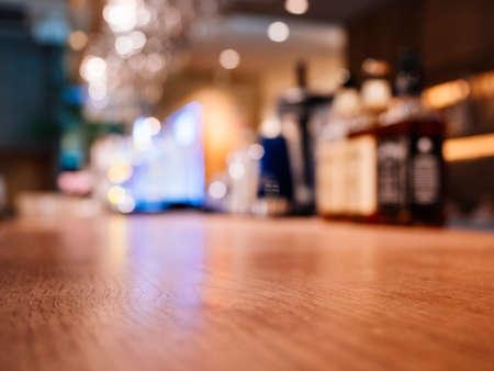 Counter Bar nightclub nightlife Blur background Фото со стока