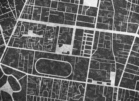 City map street road Urban planning concept Black texture Фото со стока