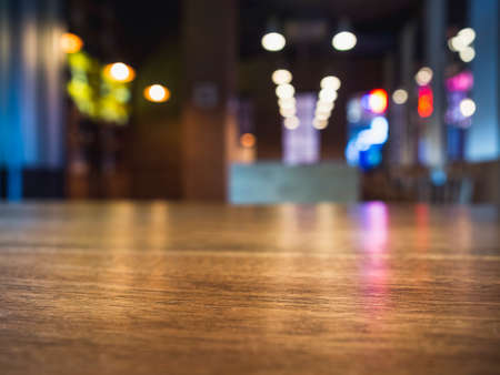 Table top counter Blur Bar cafe restaurant interior background