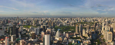 Cityscape of Bangkok Thailand Panorama view Skyscraper Reklamní fotografie