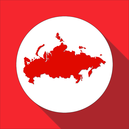 russia map: Russia map,border flat simple style icon for web Illustration