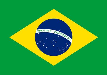 brazilian: Vector colorful national brazilian flag