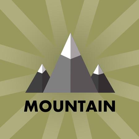 winter range: vector illustration of mountain, mountain , mountain design, mountain concept, line mountain Illustration