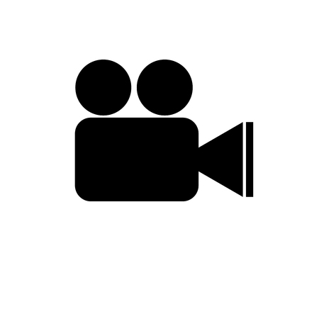 isolatd: Video recorder black icon isolatd on white