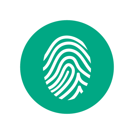 Fingerprint simple vector icon Illustration