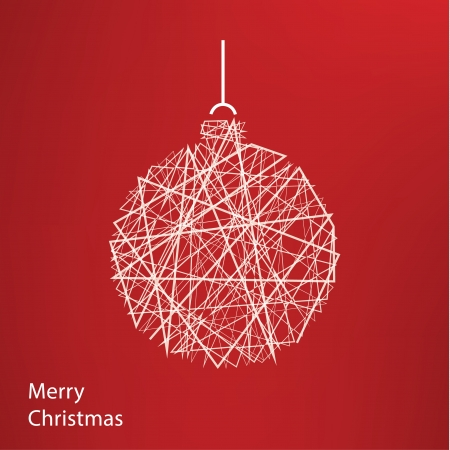 conection: Vector outline Christmas decoration. Modern Christmas background with place for your content. Christmas decoration. Minimalistic Christmas motive.
