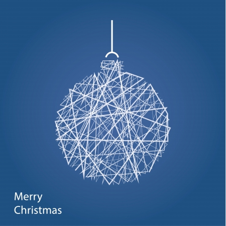 christmas motive: Vector outline Christmas decoration. Modern Christmas background with place for your content. Christmas decoration. Minimalistic Christmas motive.