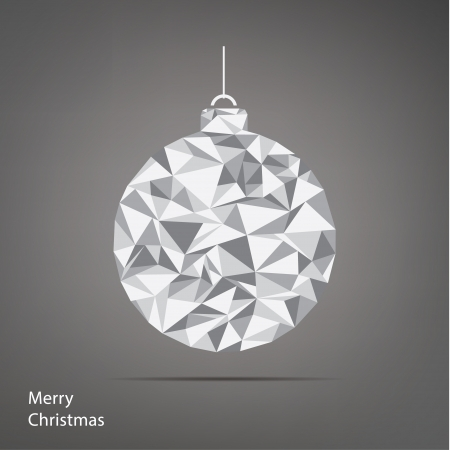 snippet: Vector Christmas illustration. Fractal Christmas tree. Square background with place for your content.