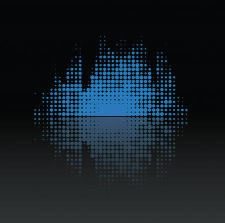 inteligible: Volumen de la música colorfuly con pequeños puntos de reflexión de música de fondo - diseño moderno