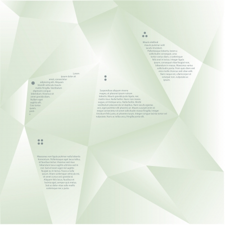 creased: Vector modern template with space for your text. Creased - folded paper motive. Soft color. Editable, sizable.