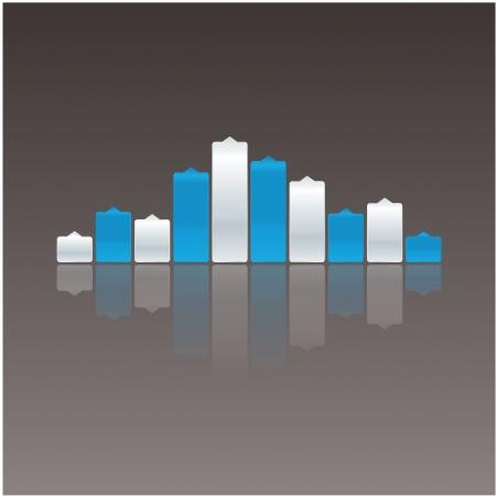 inteligible: Volumen de la música de colores con la reflexión Vectores