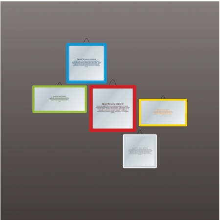 demarcation: frames with space Illustration