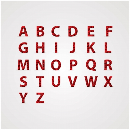 refracted: Full ruby alphabet with reflections