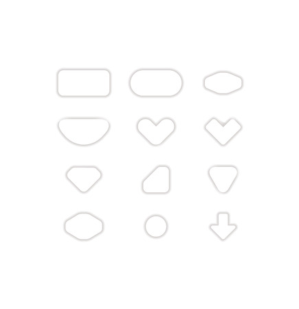 Pack of fabric icons Stock Vector - 24356583