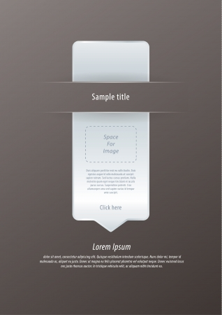 space for images: Vector modern infographic arrow. Luxury feel. Sizable, editable friendly. Space for images and information or icons. Minimalistic website element.