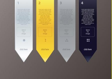 minimalistic: arrows in minimalistic, modern design Illustration