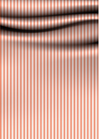adorned: stripped drapery Soft cloth with stripes Illustration