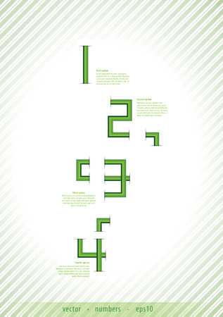 Abstract template with numbers in retro style Vector